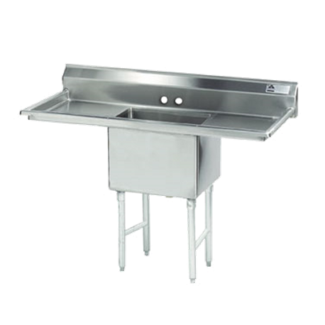 "Advance Tabco FC-1-1824-18RL-X Fabricated NSF Sink, 1-compartment, 18"" right & left drainboards, bowl size 18"" x 24"" x 14"" deep, 16 gauge 304 series"