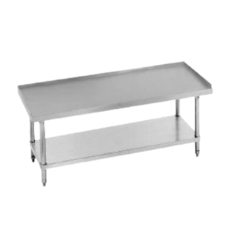 "Advance Tabco EG-LG-302-X Special Value Equipment Stand, 24""W X 30""D X 25""H (Overall), 24"" Working Height, 16/304 Stainless Steel Top With 1"" Upturn"