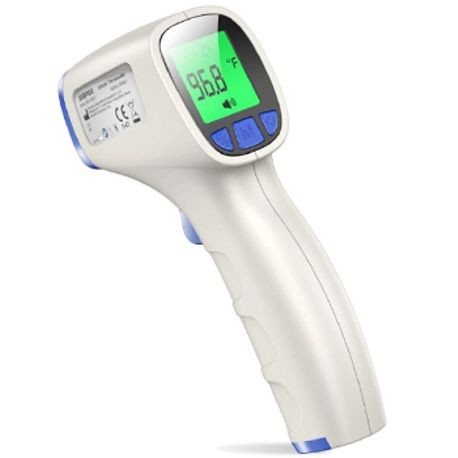 Non-Contact Infrared Forehead Thermometer for Adults and Children with Digital Display, Instant Reading and Fever Alarm