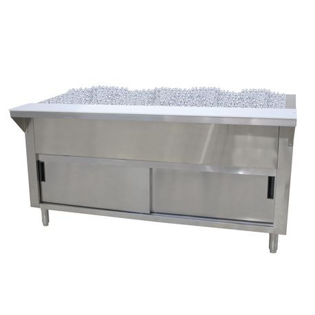"Advance Tabco CPU-5-DR Ice Cooled Serving Counter, 77-3/4""W x 30-1/2""D x 34-3/8""H, accommodates (5) 12"" x 20"" pans inserts up to 6-1/4"" deep (with"