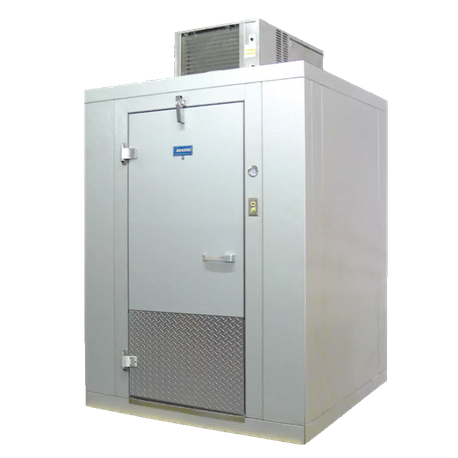 "Arctic Industries BL88-C-R Walk-In Cooler, Indoor, 7' 10""W x 7' 10""L x 7' 4""H, (+35 F holding), no floor, coated acrylume interior and exterior cam"