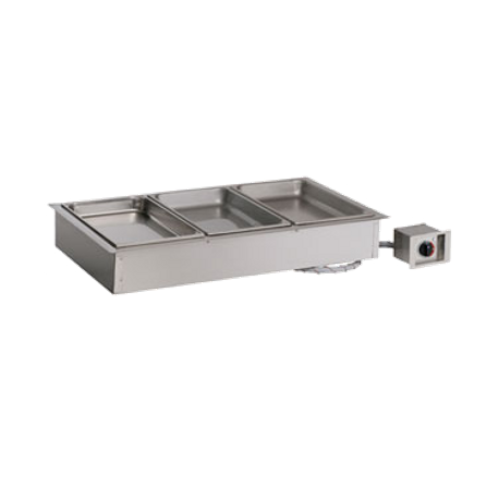 "Alto-Shaam 300-HW/D4 Halo Heat Hot Food Well Unit, Drop-In, Electric, (3) 12"" x 20"" full-size pan capacity (pans NOT included), 4-3/8"" deep well"