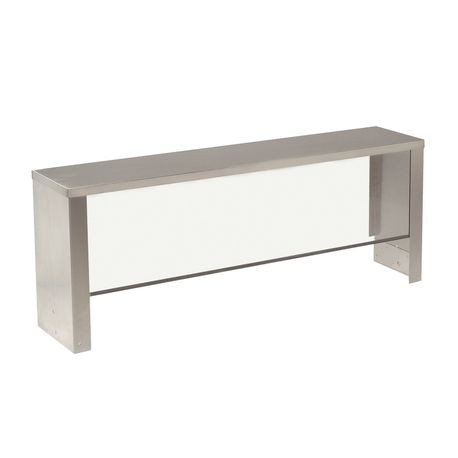 "Advance Tabco TSS-3 Serving Shelf with Breath Guard, single sided, full-service, 47-1/8""W x 10""D x 15""H, acrylic shield, stainless steel shelf & sides"
