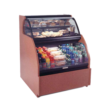 "Structural HUDLR3852 Encore Combo Merchandiser, 40""W, non-refrigerated service (upper) & refrigerated self-service (lower), Breeze with EnergyWise"