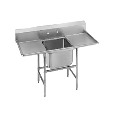 "Advance Tabco 94-61-18-24RL Regaline Sink, 1-compartment, with left & right-hand drainboards, 24"" front-to-back x 18""W sink compartment, 14"" deep, with"