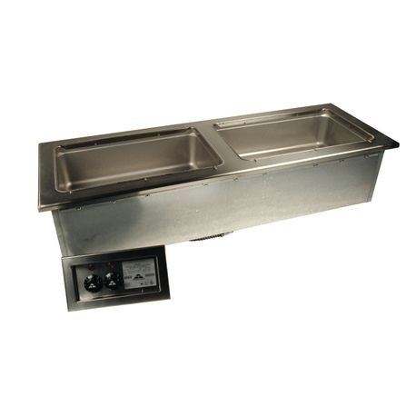 "Advance Tabco DISLSW-2-240 Slim Series Hot Food Well Unit, drop-in, electric, 47-9/16W x 16-7/16""D (overall), 45-7/8W x 15-1/8D (cut out size), (2) 12"""