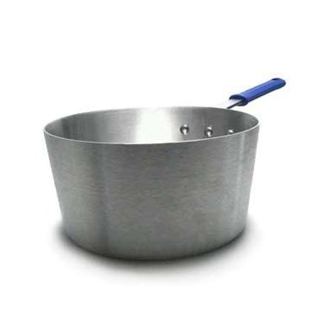 10-quart Wear-Ever® tapered saucepan with natural finish and Cool Handle® rubber grip sleeve, Vollrath 4350