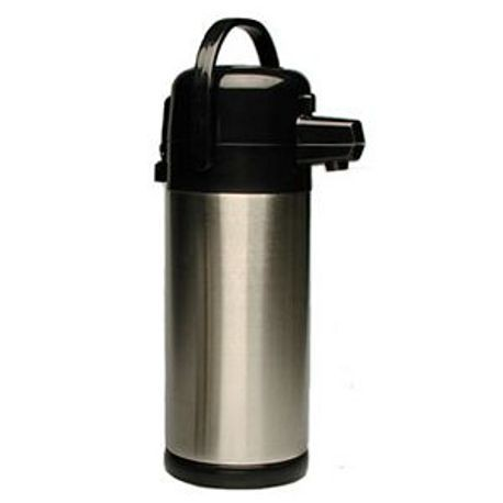 AIRPOT STEEL LINED 2.2 LITER S/S & BLACK