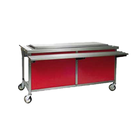 "Eagle DCS6-FTU Director's Choice Frost Top Unit, self-contained refrig., 96""W x 30""W x 34""H, (6) pan size with 1"" raised top with 1/2"" full"