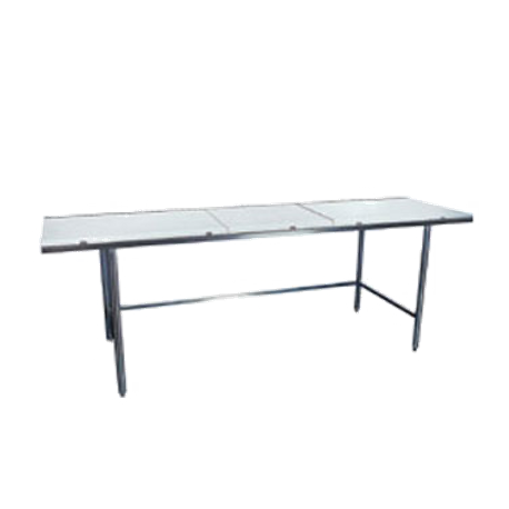 "Winholt DPTR-3036 Work Table, 36""W x 30""D x 34""H, 5/8"" poly top with 16/304 stainless steel top frame, 16/304 stainless steel legs with crossrails"