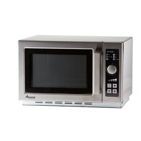 Amana RCS10DSE Amana Commercial Microwave Oven, medium volume, 1000 watts, 4 power levels, stainless steel exterior & interior, 10 min. dial timer