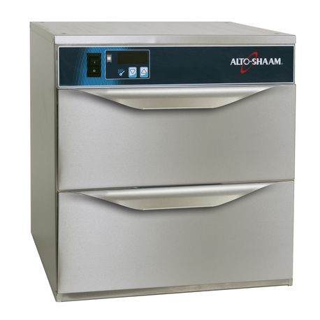 "Alto-Shaam 500-2DN Halo Heat Narrow Warming Drawer, free standing, two drawer, digital controller, (1) 12"" x 20"" pan, (50) rolls or (34) baked potatoes"