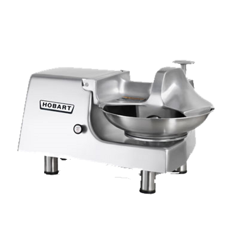 "Hobart 84145-2 Food Cutter, without attachment hub, 14"" diameter stainless steel bowl 22 RPM, double stainless steel knives 1725 RPM, bowl cover with"