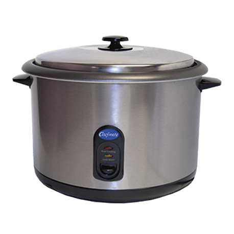 "Globe RC1 Chefmate Rice Cooker, countertop, cooks up to (25) one-cup servings, cook and warm cycle with single ""on"" switch, overheat protection"