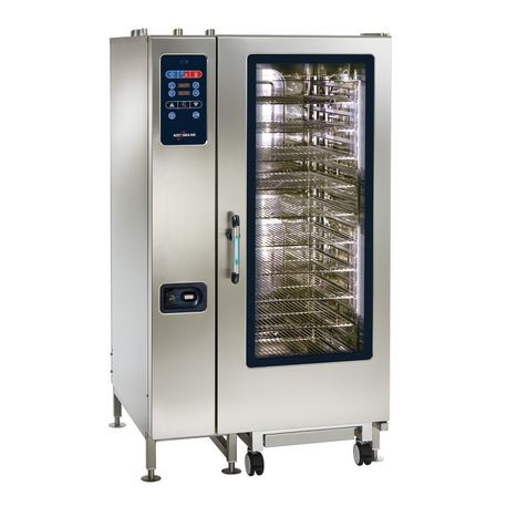 "Alto-Shaam CTC20-20G Combitherm CT Classic Combi Oven/Steamer, gas, boilerless, floor model with roll-in cart, (20) non-tilt support rails, (20) 18"" x"