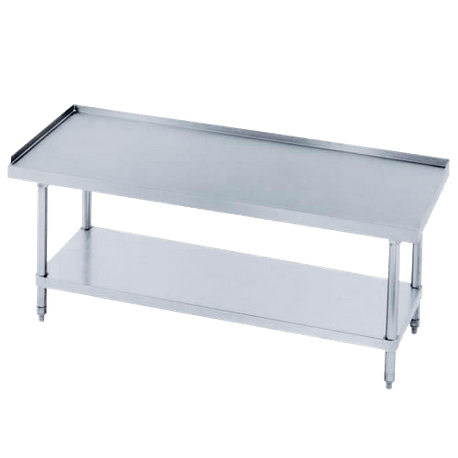 "Advance Tabco EG-LG-306-X Special Value Equipment Stand, 72""W X 30""D X 25""H (Overall), 24"" Working Height, 16/304 Stainless Steel Top With 1"" Upturn"