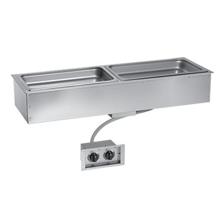 "Alto-Shaam 200-HWIS/D6 Halo Heat Hot Food Well Unit, Drop-In, Electric, 44-3/8""W x 14-15/16""D, (2) 12"" x 20"" full-size pan capacity (pans NOT included)"