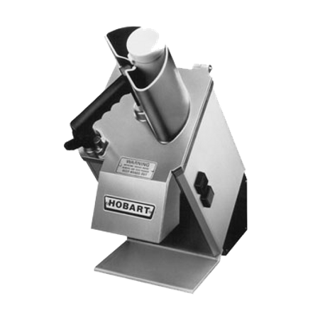 Hobart FP100-1 Food Processor - Unit Only, angled continuous feed design, half-size hopper, 11 lb per/min production cap., 420 rpm, stainless steel