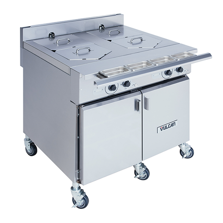 "Vulcan VCS36D V-Series Multifunction Cooker, electric, 36"", single tank (left-to-right), 5 gallon capacity, (6) heating elements, 450F maximum temperature, water dispenser with integrated safety valve"