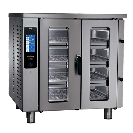 Alto-Shaam VMC-F4E Vector Series Multi-Cook Oven, Electric, 4 individually controlled chambers, holds (8) half-size sheet pans, programmable screen