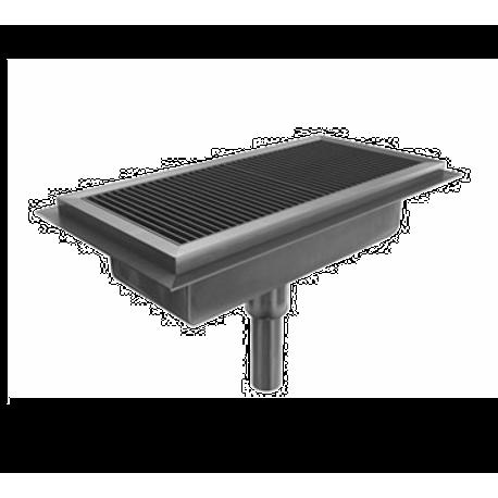BSI FT BSI LLC Drain Tech Floor Trough W X D X - 6 ft stainless steel table
