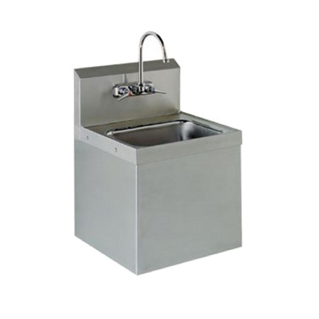 "Advance Tabco 7-PS-747 Hand Sink, class 2 upgrade, security unit, wall model, 14"" wide x 10"" front-to-back x 5"" deep bowl, 304 stainless steel"