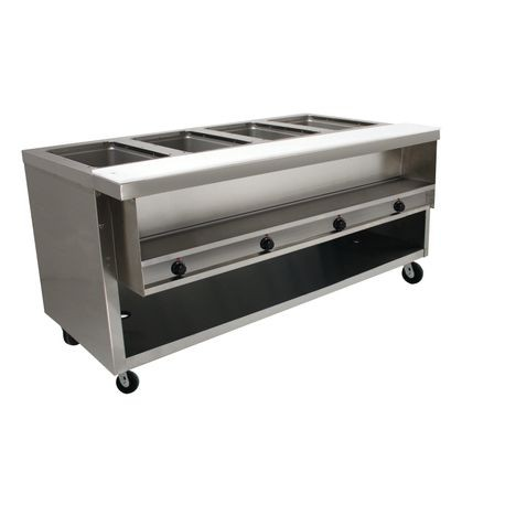 "Advance Tabco HDSW-4-120-BS Heavy Duty Sealed Well Hot Food Table, electric, 62-7/16""W x 35-3/4""D x 35-1/2""H, (4) 12"" x 20"" hot food insulated wells"