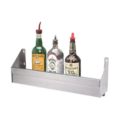 "Advance Tabco SRK-18 Underbar Basics Speed Rail, single tier, 18""W, (4-5) bottle capacity, keyhole mounting, stainless steel, NSF"