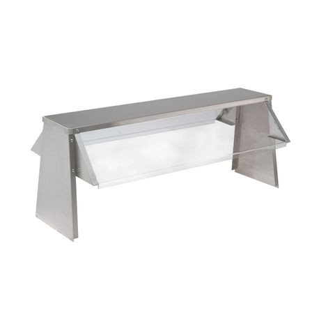 "Advance Tabco TBS-4 Buffet Shelf with Breath Guard, double sided, self-serve, 62-7/16""W x 19-1/4""H, acrylic shields, stainless steel shelf & sides, for"