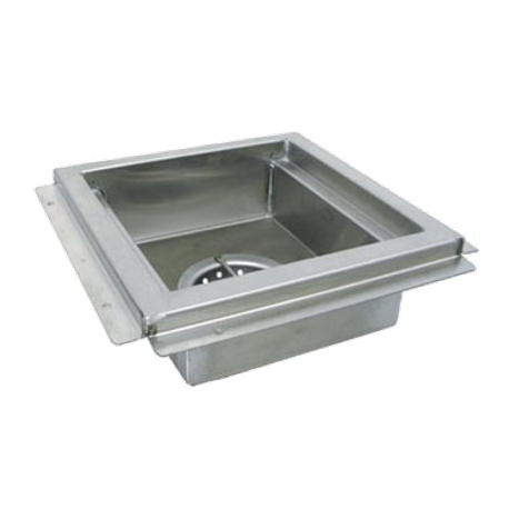 "Advance Tabco FDR-1212 Floor Drain, 12"" wide x 12"" long, 4"" deep, stainless steel waste cup with removable stainless steel basket, 4"" O.D. - 3"" long"