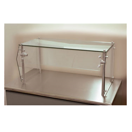"Advance Tabco GSG-12-36 Sleek Shield Food Shield, self service, 36""W x 12""D x 18""H, with glass top shelf, 1/4"" thick heat tempered glass front & side"