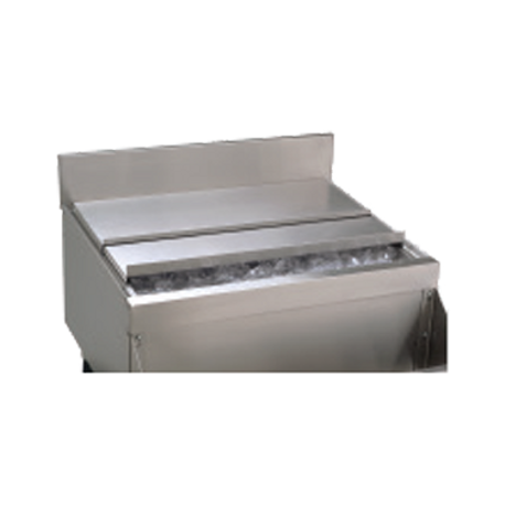 "Advance Tabco SSC-42 Underbar Basics Ice Bin Sliding Cover, 40-3/4""W x 16-1/4""D, for 42""W ice bins, 20 gauge type 300 stainless steel"