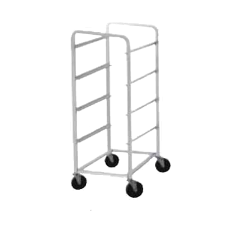"Advance Tabco LR4 Lug Cart, full height, open sides, with slides for lugs, holds 4 lugs, all-welded aluminum construction, 1"" square tubing, front & rear"