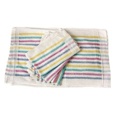 DELUXE TOWEL 15X26 MULTI STRIPED