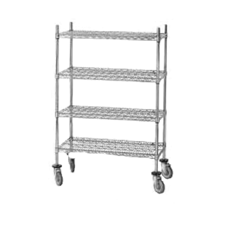 "Advance Tabco ECPC-86-X Wire Shelving Post, 86""H, numbered, heavy duty, chrome plated, for use with casters, NSF"
