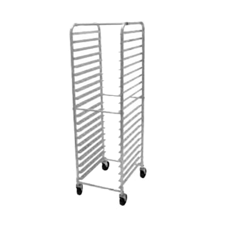 "Advance Tabco PR20-3W Pan Rack, mobile, full height, end loading, 20-1/4""W x 26""D x 69-1/4""H, (20) 18"" x 26"" or (40) 13"" x 18"" sheet pan capacity, slides"