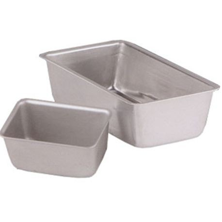 3-pound Wear-Ever® professional standard-strength aluminum loaf pan with anodized finish, Vollrath 5433