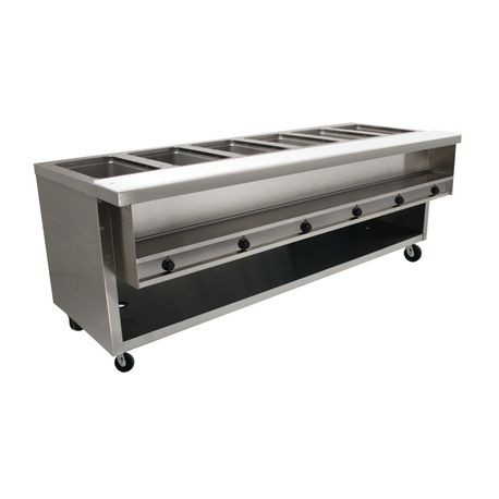 "Advance Tabco HDSW-6-240-BS Heavy Duty Sealed Well Hot Food Table, electric, 93-1/8""W x 35-3/4""D x 35-1/2""H, (6) 12"" x 20"" hot food insulated wells"