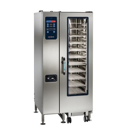Alto-Shaam CTC20-10E Combitherm CT Classic Combi Oven/Steamer, electric, boilerless, floor model with roll-in cart, (20) non-tilt support rails