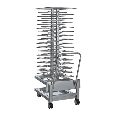 "Alto-Shaam 5017153/NT Roll-In Plate Cart, 60 plates capacity, 2-9/16"" vertical spacing, fits 20-10E, 20-10G, 20-20MW and QC3-100, stainless steel"