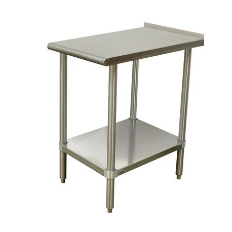 "Advance Tabco TFMSU-150-X Equipment Filler Table, 15""W x 30""D, 16 gauge 304 series stainless steel top with 1-1/2"" rear upturn, 16 gauge 304 stainless"