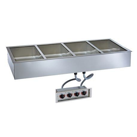 "Alto-Shaam 400-HWILF/D4 Halo Heat Hot Food Well Unit with large flange, Drop-In, Electric, (4) 12"" x 20"" full-size pan capacity (pans NOT included)"