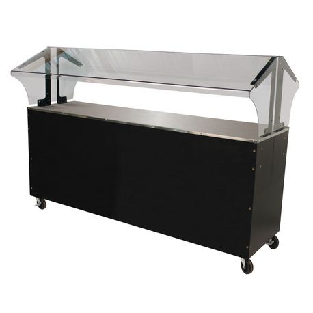 "Advance Tabco B5-STU-B-SB Portable Solid Top Buffet Table, 77-3/4""W x 35""D x 53""H, (5) pan size, 20 gauge stainless steel solid top, double sided sneeze"