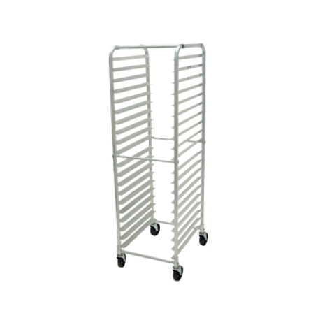 "Advance Tabco PR20-3K-X Rack, mobile pan, full height, open sides, with 1-1/2"" ribbed angle, capacity 20 - 18"" x 26"" sheet pans, bolted extruded aluminum"