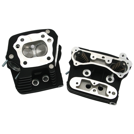 S&S<sup>®</sup> Performance Replacement Standard Compression 76cc Cylinder Heads For 1984-'99 HD<sup>®</sup> Big Twins - Black Wrinkle Powder Coat Finish