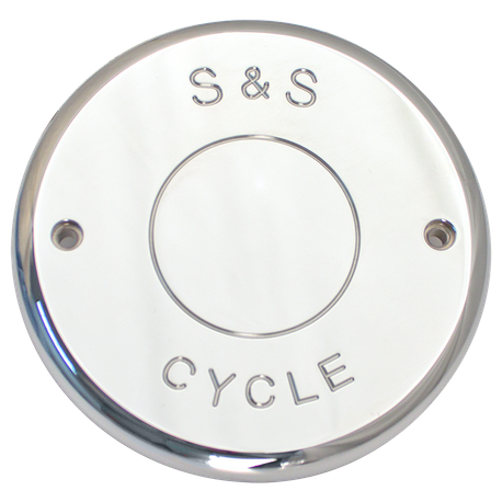 Nostalgic Chrome Billet Cover For S&S<sup>®</sup> Air Cleaners For 2014-'16 Indian<sup>®</sup> Touring Models