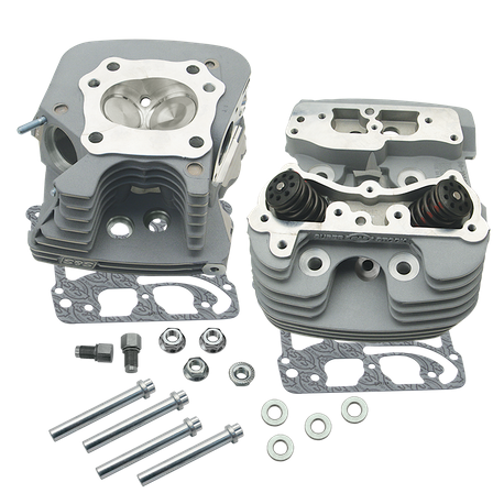 S&S<sup>®</sup> Super Stock<sup>®</sup> 79cc Cylinder Head Kit For 2006-'16 HD<sup>®</sup> Big Twins - Silver Powder Coat Finish