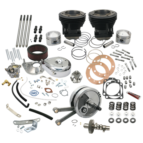 "Complete 93"" 3-5/8"" Big Bore Hot Set Up Kit For 1970-72 Big Twins"