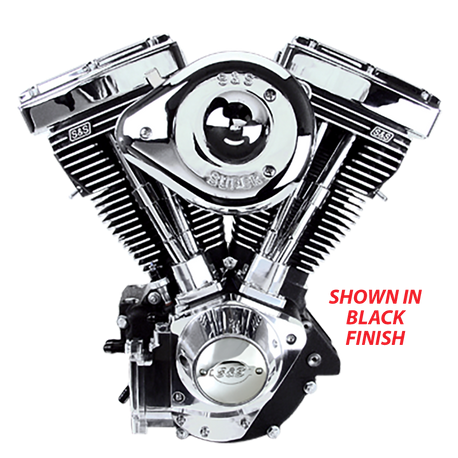 V96 Complete Assembled Engine For 1984-'99 Carbureted HD Big Twins - Polished