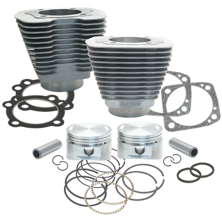 "88"" 3 5/8"" Big Bore Cylinder and Piston Kit for 1984-'99 Big Twins with Stock Heads - Natural Aluminum Finish"